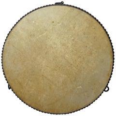 20th Century Japanese Traditional Flat Drum, Hira Taiko