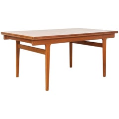 Midcentury Danish Modern Henning Kjaernulf Extendable Dining Table, 1960s