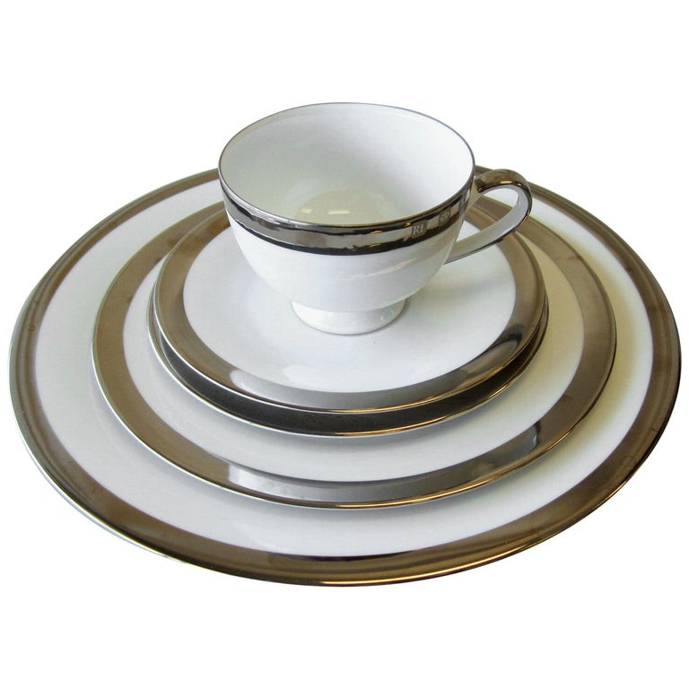 Set of 8 Academy Platinum Place Settings by Ralph Lauren Home For Sale