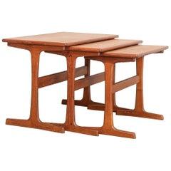 Danish Mid-Century Modern Teak Nesting Tables by Kai Kristiansen, 1960s