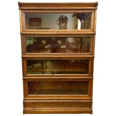 Globe Wernicke Company Ltd. Signed Oak and Glass Barrister Bookcase