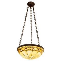 Inverted Leaded Glass Dome, circa 1910, Duffner & Kimberly.