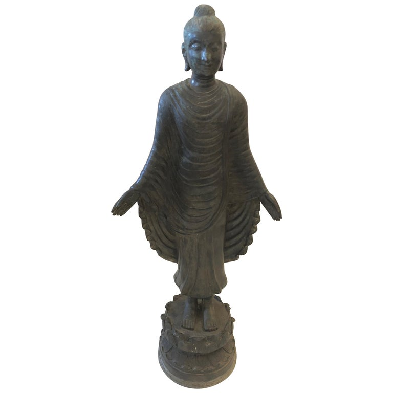 Gorgeous Thai Buddha Bronze Statue For Sale