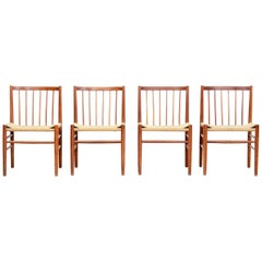 Set of Four Jørgen Baekmark Model J80 Dining Chairs for FDB Møbler, 1960s