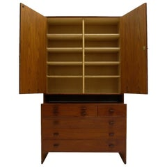 Hans J. Wegner for Ry Furniture Wall Unit with Shelves in Cabinet and Dresser