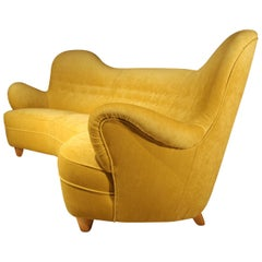 Otto Schulz High Back Banana Sofa for Boet, 1930s