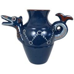 English Art Pottery Longpark Dragon Pitcher