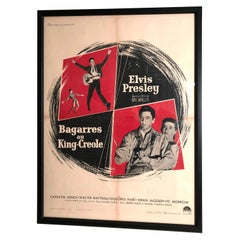 Original Elvis Presley French Movie Poster for King Creole, circa 1958