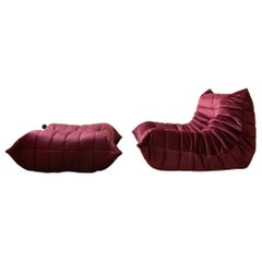 Two-Piece Togo Set by Michel Ducaroy Manufactured by Ligne Roset in France