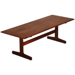 Mid-Century Modern Walnut Trestle Coffee Table, circa 1960s