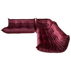 Velvet Togo Living Room Set by Michel Ducaroy for Ligne Roset