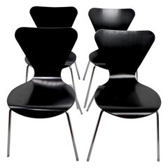 Set of Four Series 7 Jacobsen Style Chairs Made in Italy