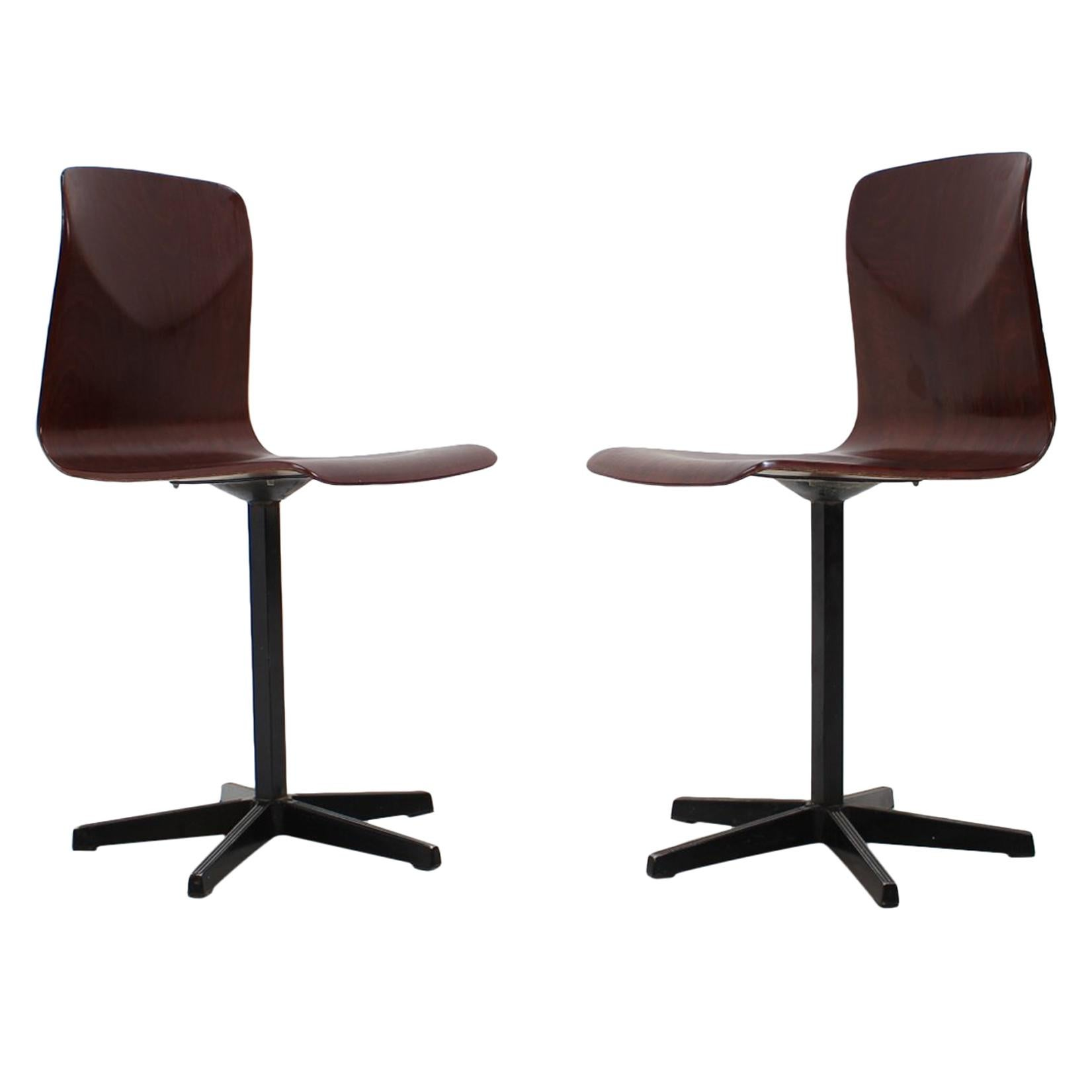 Pair of Midcentury Industrial Style Chairs, Elmar Flötotto for Pagholz, 1970s