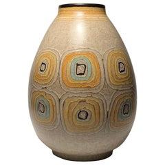 Large Vintage Alvino Bagne Signed Ceramic Vase