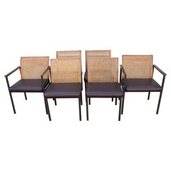 Six Mid-Century Modern Dining Chairs by Lane Furniture
