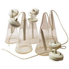 Flos Modern Fucsia Art Glass Lamp, 1970s