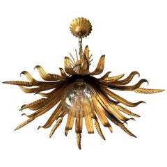 Hans Kogl Wheat Sheaf Pendant Light, 1970s