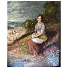 """The Gleaner"" Victorian Portrait, Oil Painting"
