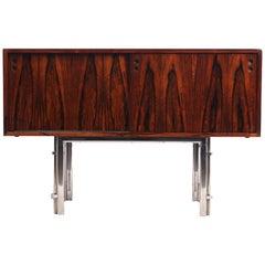 Small Scandinavian Rosewood Sideboard, circa 1960