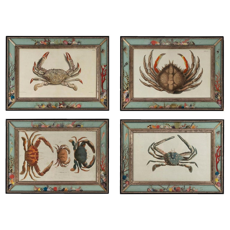 Set of Four Frames, Glass and Silvered Wood, circa 1970, France For Sale