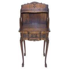 Louis XV Style Okwood Nightstand or Side Table