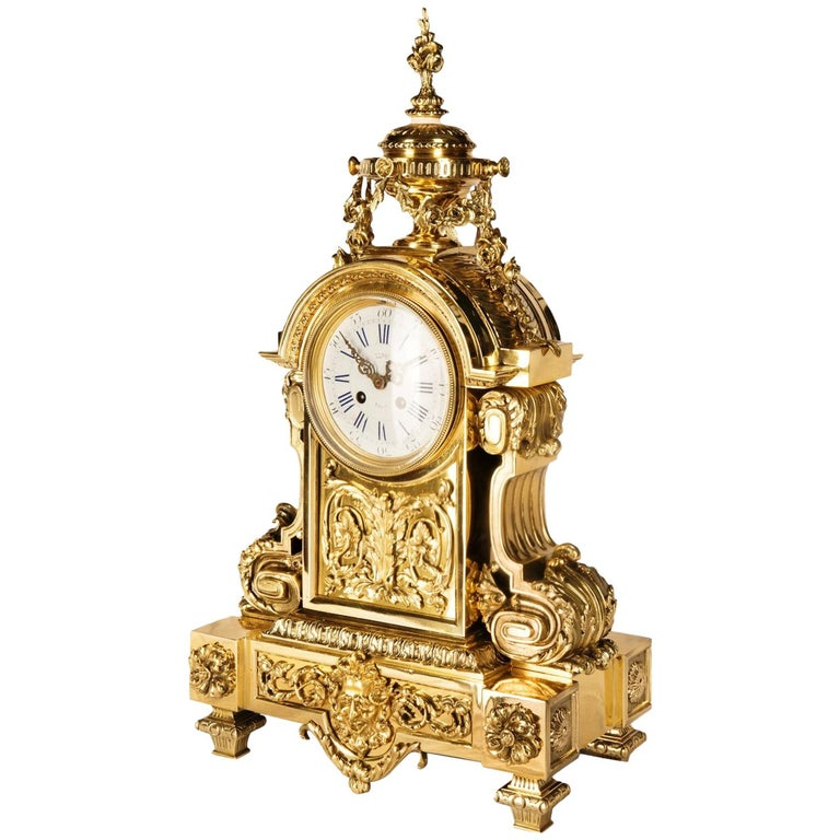 Louis XVI 19th Century Mantel Clock by Leroy For Sale