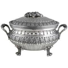 Italian Soup Tureen 800 Silver