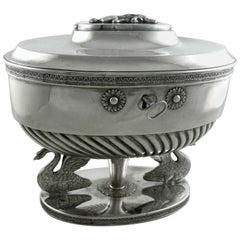 Sterling Silver Biorstedt Etrog Footed Box