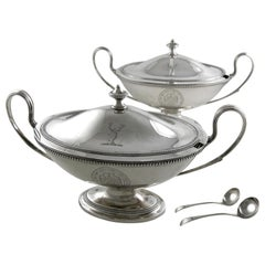 Pair of Suace Tureens with Ladles
