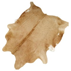 Cowhide Rug Beige Creme Large Size
