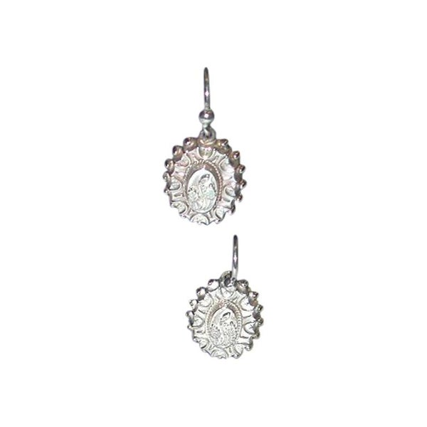 Pair of Victorian Silver Earrings, with Leaf Motif, circa 1880