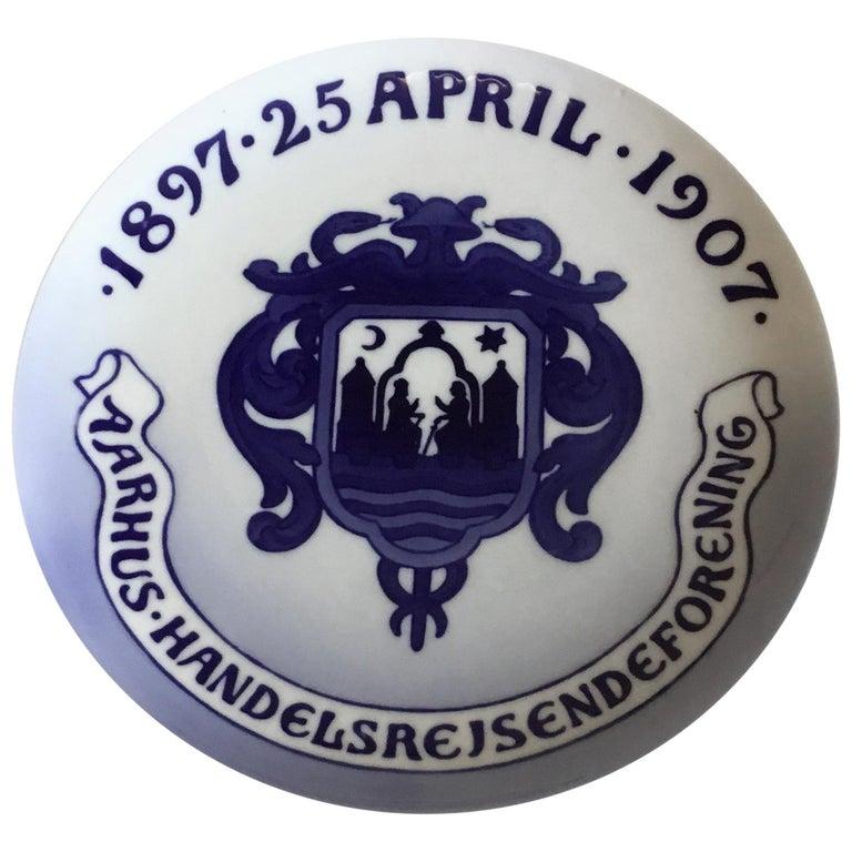 Royal Copenhagen Commemorative Plate from 1907 RC-CM73 For Sale
