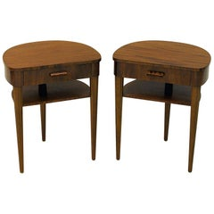 Pair of Mahogany Night Tables from Bodafors, 1940s, Sweden