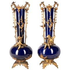 Pair Sevres Style Vases, Late 19th Century
