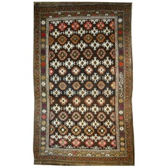 Karabagh Rug Hand Knotted in Azerbeijan, Midcentury