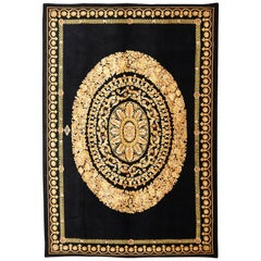 Versace Collection Rug Petit Barocco Nero Black Gold, 1980