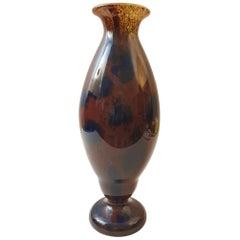 Schneider France Art Deco Jades Glass Vase, 1927s