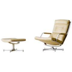 Kastholm & Fabricius for Kill International Leather Lounge Chair FK 85