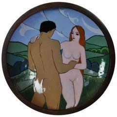Art Deco Plate by Camille Fauré, le couple
