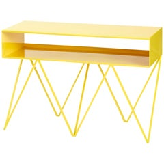 Robot Too Low Steel TV Stand Sideboard Console in Yellow
