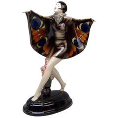 Goldscheider Vienna Lorenzl Butterfly Lady Captured Bird Nr.5960 15.94
