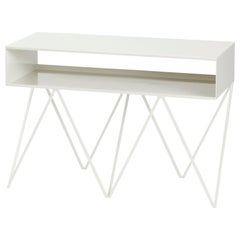 Robot Too White Steel Side Table / Console Table