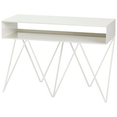 Robot Too Tall Steel Sideboard Console Table in Paper White