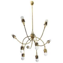 Italian Mid-Century Modern Brass Pendant Lamp, 1950s