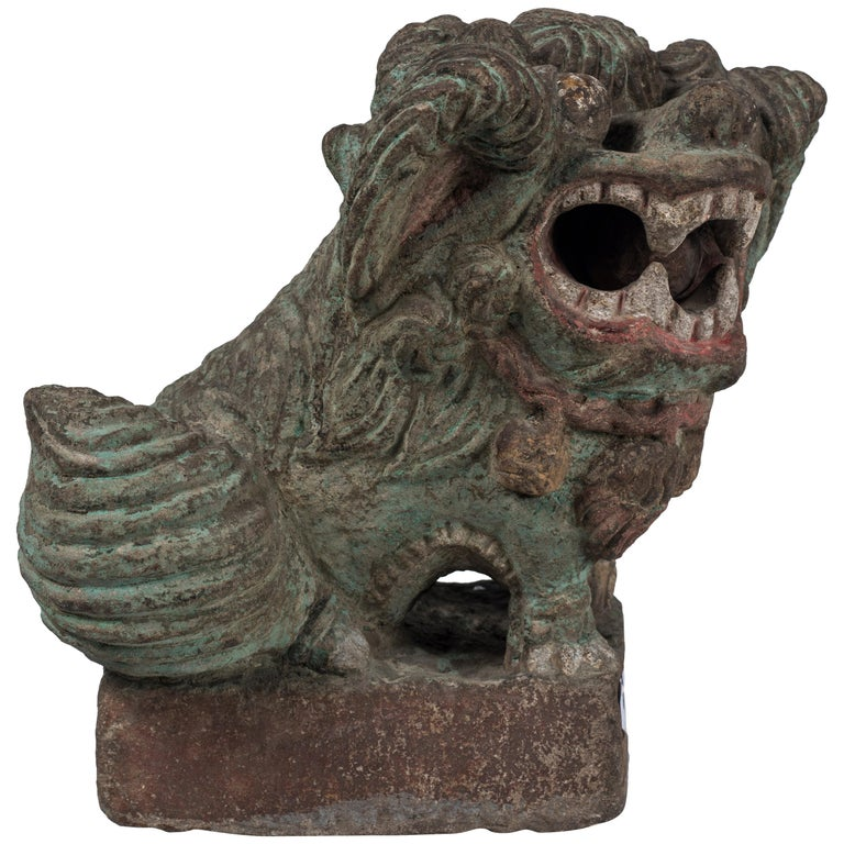 Ancient Pho Dog Sculpture, Chinese Manufacture, 19th Century For Sale