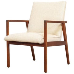 Midcentury Jens Risom Upholstered Lounge Chair, 1960s
