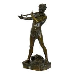 """French Antique Bronze Sculpture """"L'Improvisateur"""" by Felix Charpentier & Colin"""