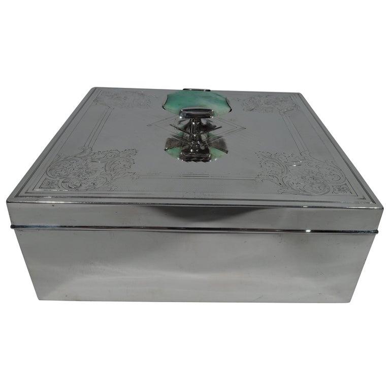 Antique American Edwardian Sterling Silver Keepsake Box For Sale