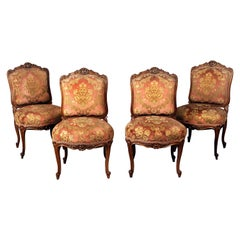 Fine Set of Four Early 20th Century Louis XV Style Wood Chairs