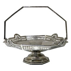 Early 20th Century Antique George V Sterling Silver Cake Basket Sheffield, 1923